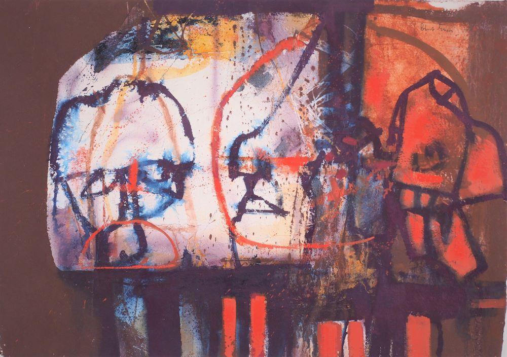 Robert Grieve, Indonesian Motif, c1994, mixed media on paper, 39 x 56cm, $2200
