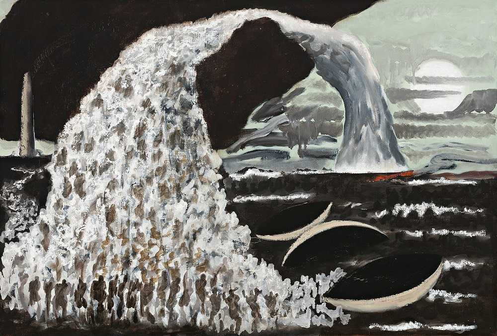 Sea Sky Souls,c.1997  oil on canvas, 55 X 77cm
