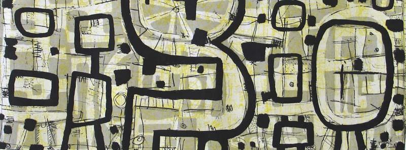 Yellow Figurescape, 2007, State II ed. 17/25, 24x60cm