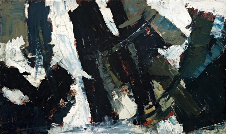 Winter, 1961, Oil on board, 74x122cm