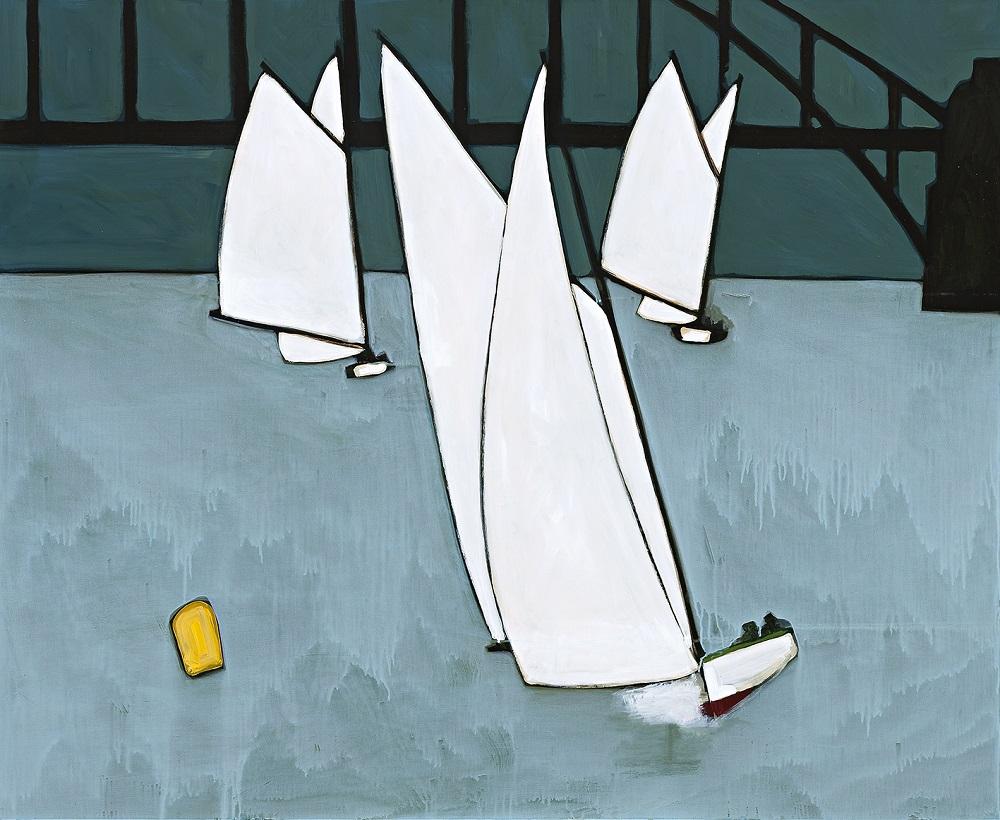 Race Marker, Oil on board, 120x150cm