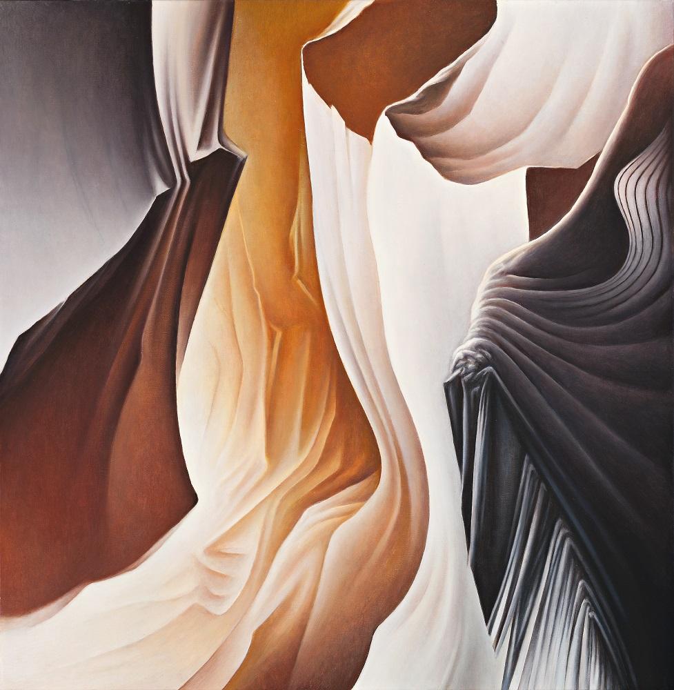 Roger Byrt, San Raphael Swell #3, oil on linen, 90x88cm, $5500