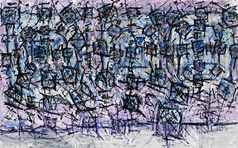 Roger Kemp, No. 1, acrylic on paper, 151 x 250cm, price on enquiry