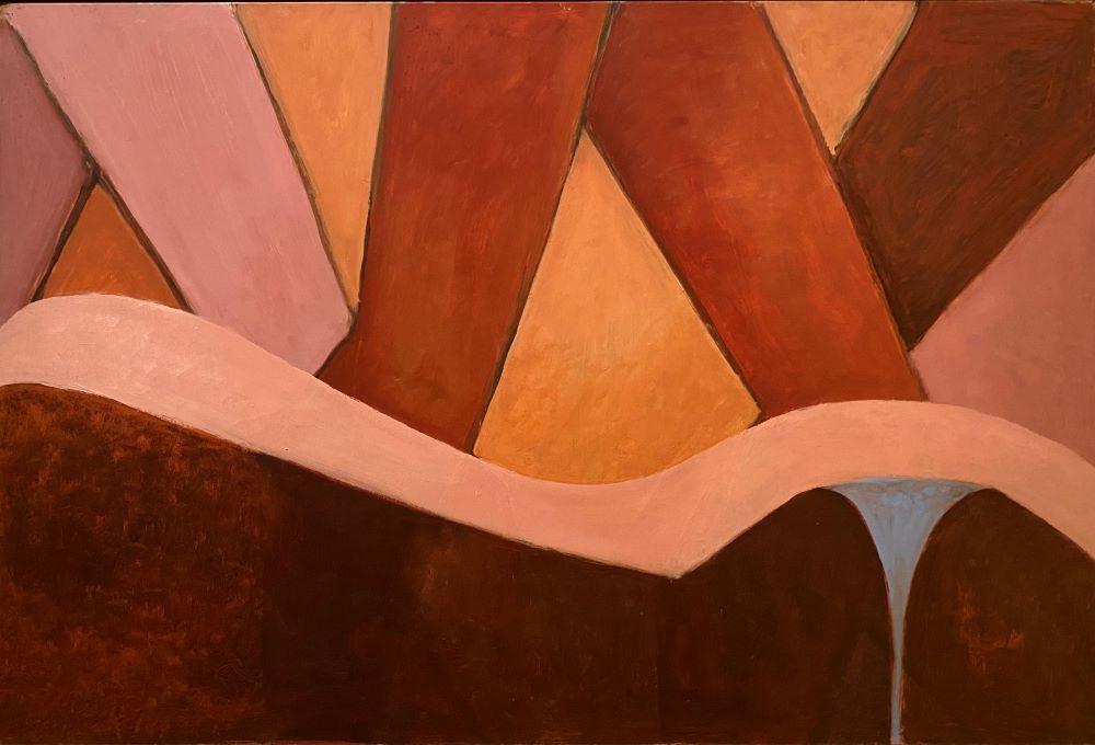 Dorothy Braund, Sea Shapes, 2002, oil on board, 61 x 89 cm, $8800