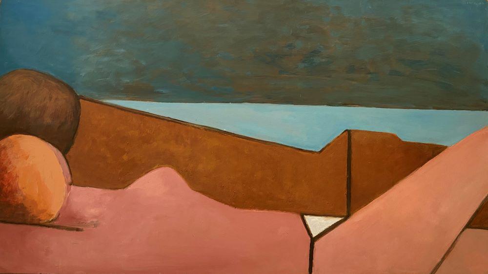 Dorothy Braund, Untitled, 2002, oil on board, 61 x 107 cm $9900