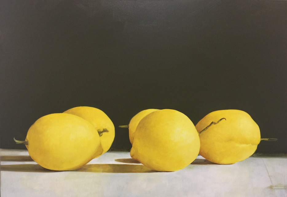 Carlo Golin, Lemon Study, 2017, oil on linen, 76x100cm SOLD