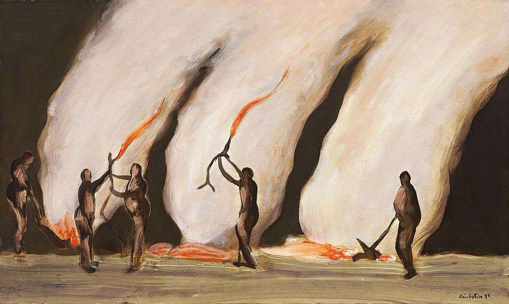 Burning Off 1, 1995, oil on canvas, 46 x 76cm