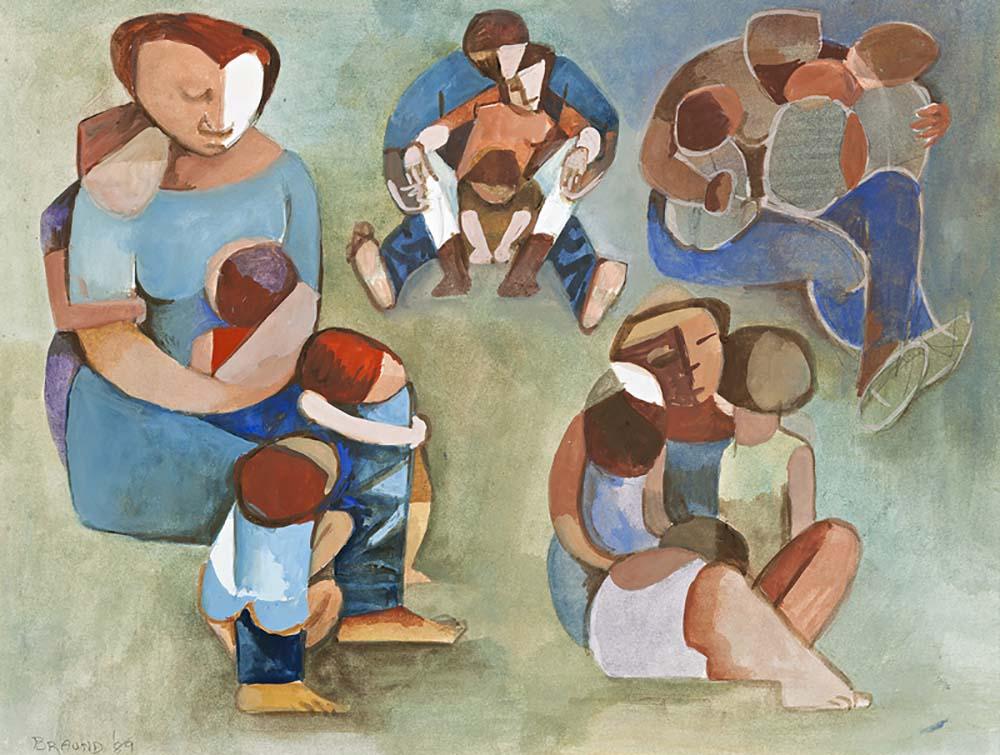 Families 2, 1989, Gouache on Paper, 38x50cm
