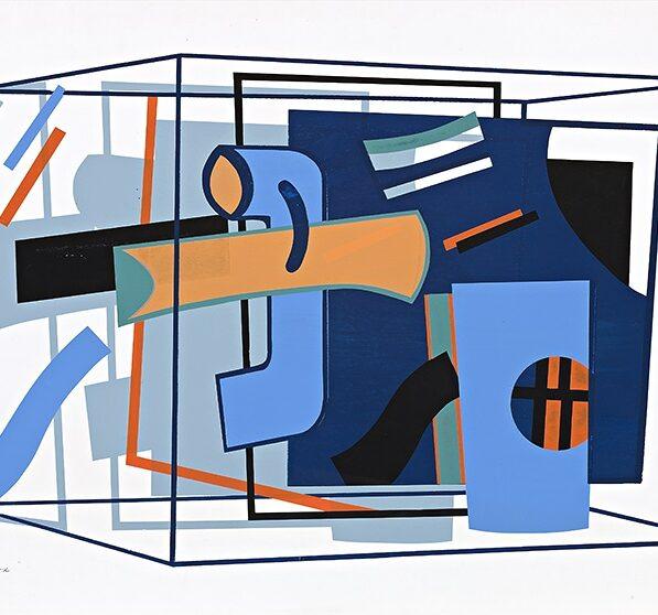 John Robinson, Box, 1969, silkscreen print, Ed.12, 50x53cm $1200 (framed)
