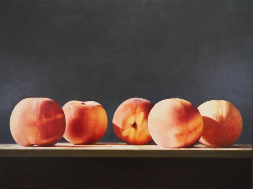 Carlo Golin, Peach Study, oil on linen, 92x122cm SOLD
