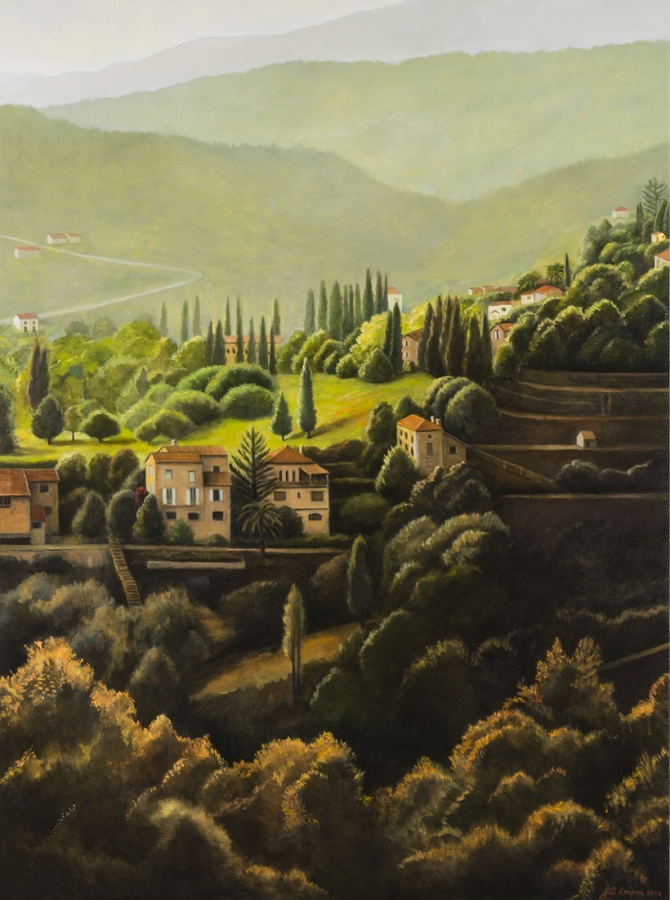 The Valley II, 2014, oil on canvas ,138x84 cm $5800