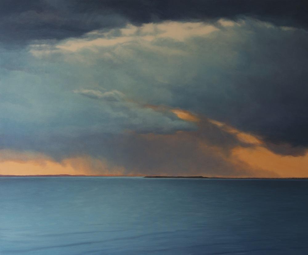 Jill Kempson, Breaking Through, 2018, oil on canvas, 100 x 120cm $6000