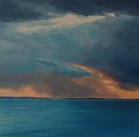 Jill Kempson,  Breaking Through -Study, 2018, oil on canvas, 30x30cm $1500