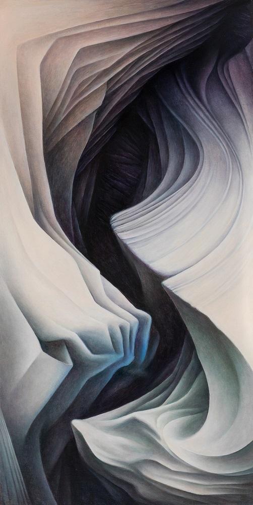 oger Byrt, Pump House Wash,2017, oil on linen, 119 x 60cm, $5500