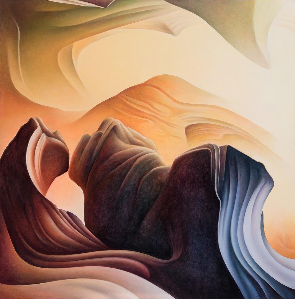 Roger Byrt, San Raphael Swell, 2016, oil on linen, 120 x 118cm SOLD