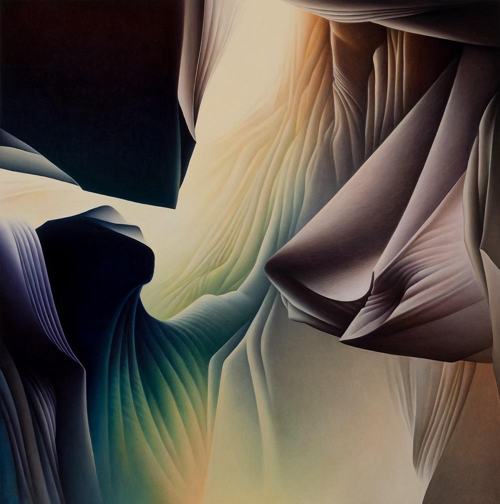 Roger Byrt, The Wedge, 2017, oil on linen, 153 x 151cm SOLD