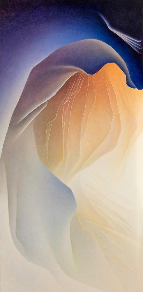 Roger Byrt, Wedge Overlook, 201, oil on linen, 60 x 120cm, $5500,