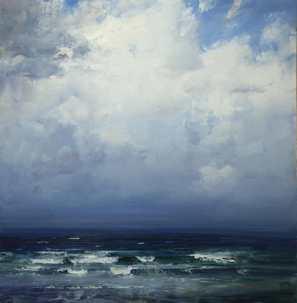 Ken Knight, Distant Horizon, oil on board, 120x120cm SOLD