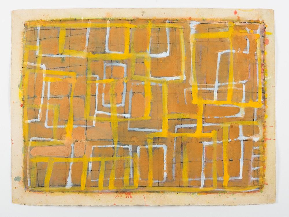 Wayne Eager, Sandstone, gouache on paper, 56x76cm $1800