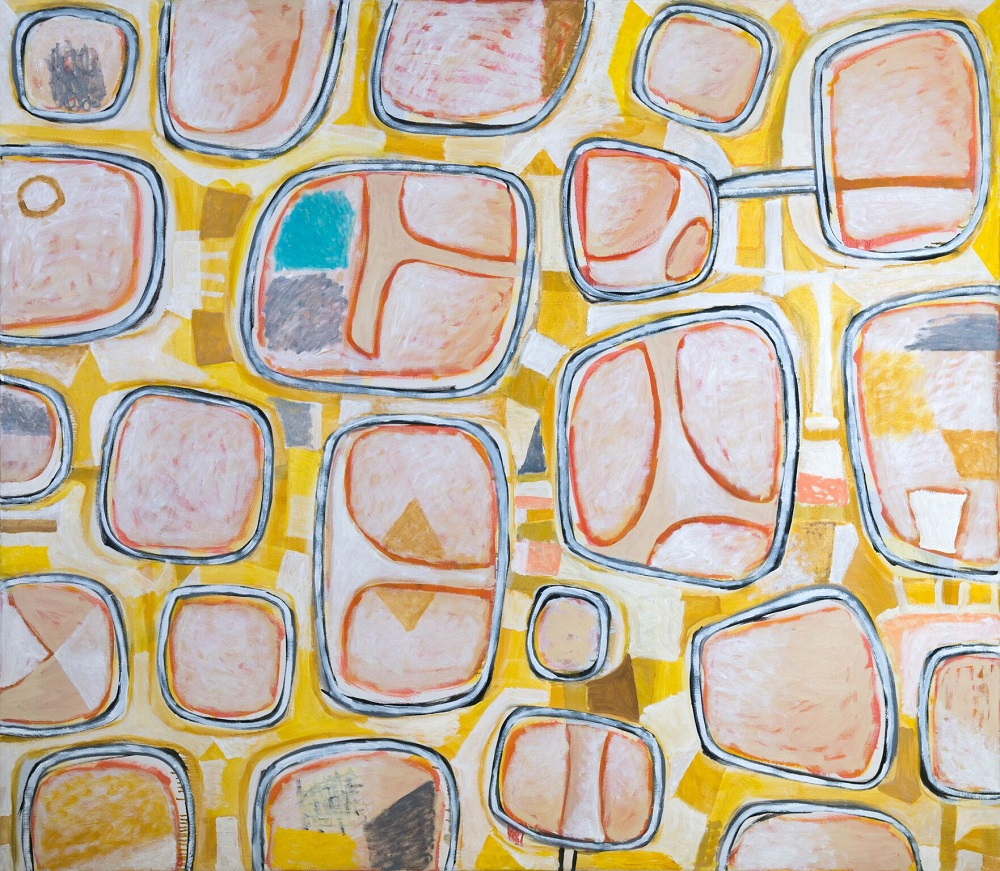 Wayne Eager, Bubbles, (State 2), 2017, acrylic on linen, 190 x 175cm $11,000