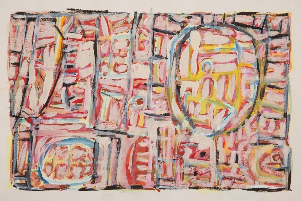 Wayne Eager, Desert Dessert, gouache on paper, 38 x56cm $1500