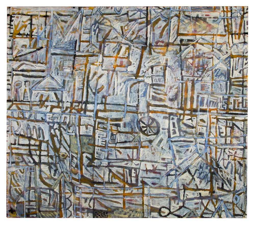 Wayne Eager, Kinetic , 2017, oil on linen, 175 x 200cm SOLD