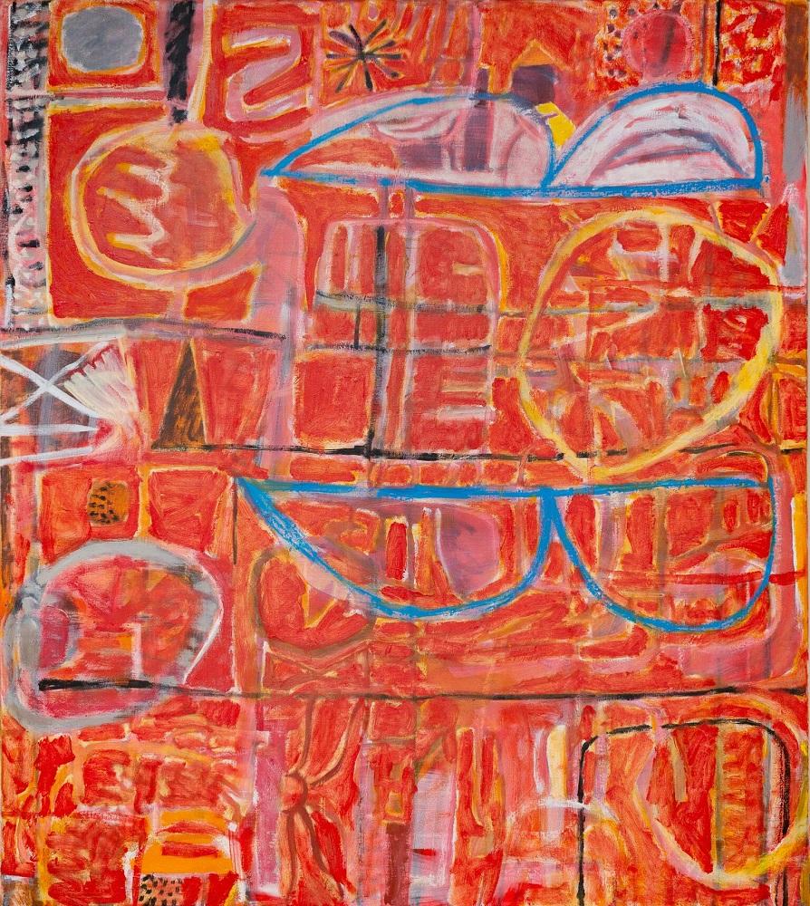 Wayne Eager, Red Town oil on linen, 138 x 122.5cm, $7000