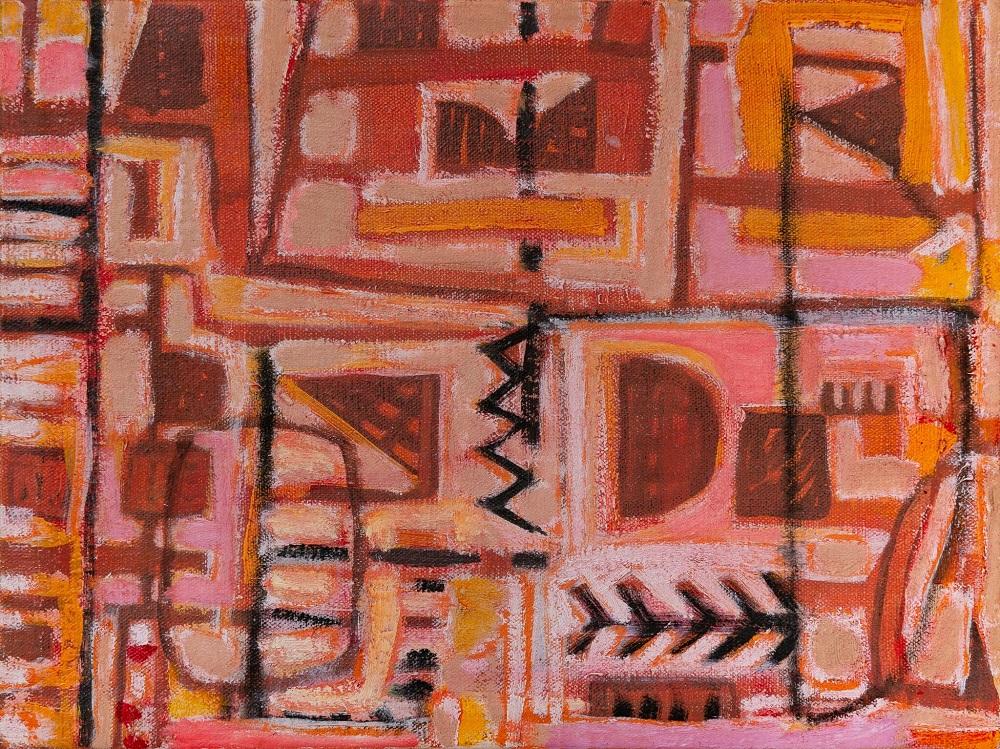 Wayne Eager, Backyard II, oil on linen, 40 x 30cm $1800