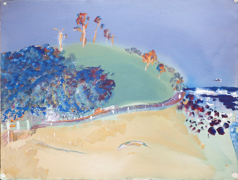 Hal Hattam, Apollo Bay, gouache on paper, 56x75cm $4400