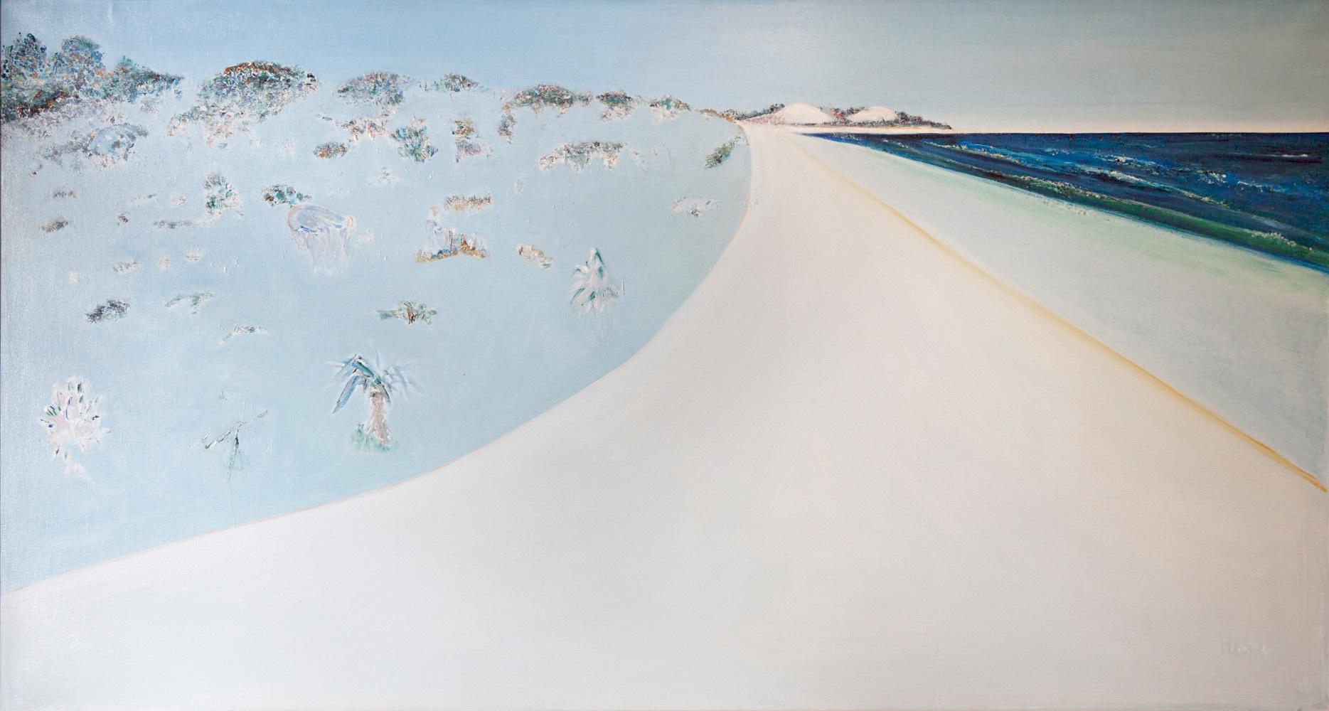 Hal Hattam, Beach Sweep, oil on canvas,120x210cm $30,000 SOLD