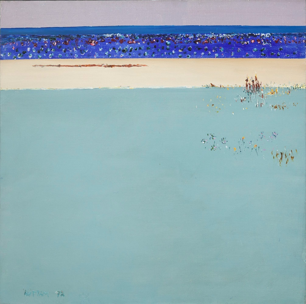 Hal Hattam, GreenWater, oil on canvas, 94x94cm $15,000