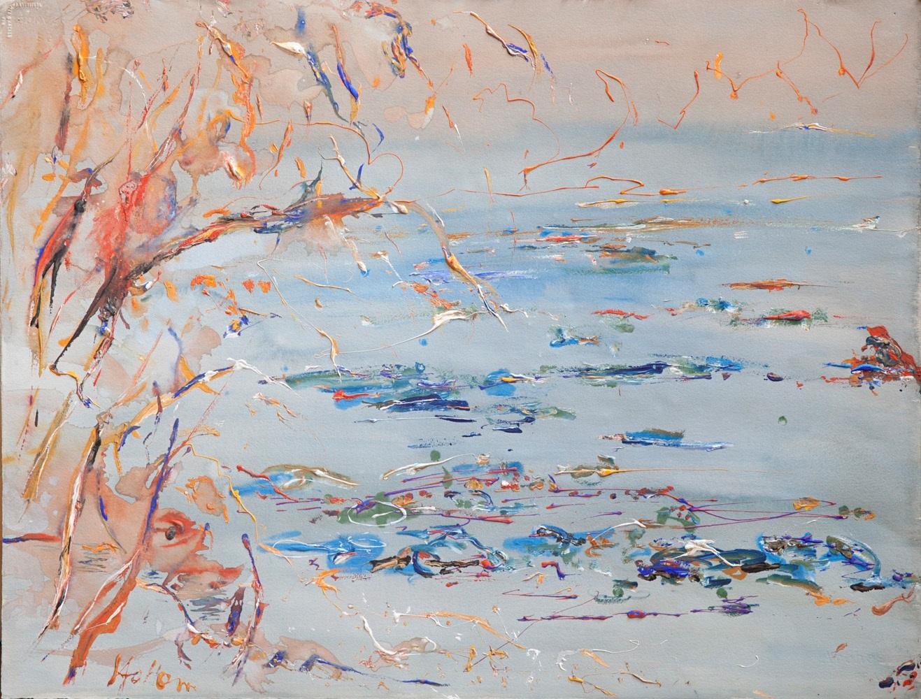 Hal Hattam, High Tide, gouache on paper, 56x75cm $4400