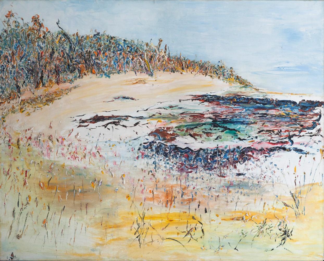 Hal Hattam, Tealeaf, Seaweed and Reef. oil on canvas, 125x160cm $25,000