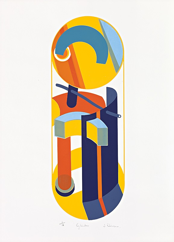 John Robinson, Cylinder, c.1971, silk screen print, Ed 10, 71x48cm, $700 unframed