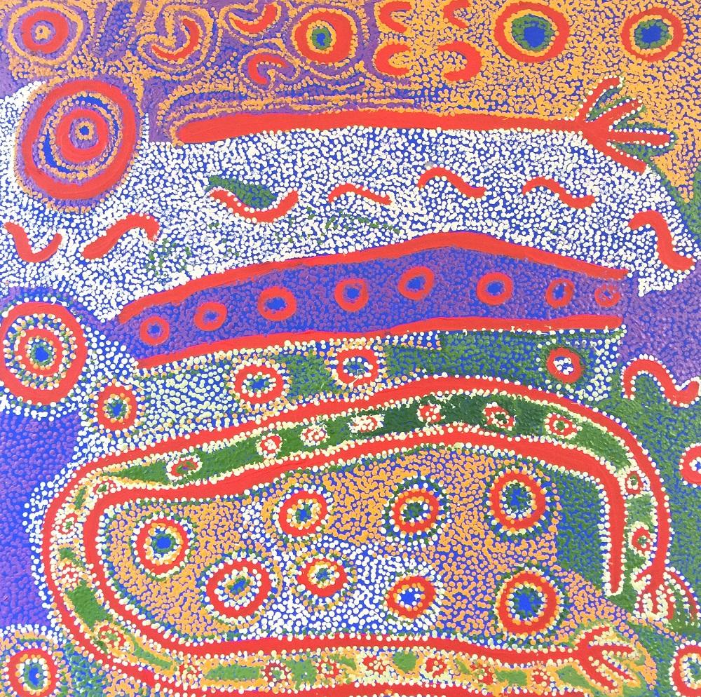 Iyawi Wikilyiri, Punu Tjuta, acrylic on canvas, 101 x 101cm $2500