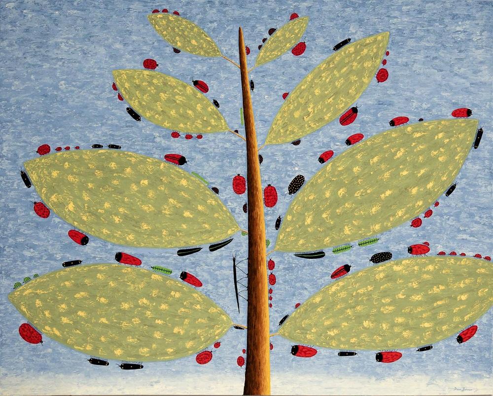 Dean Bowen, The Branch 2017, oil on linen, 122 x 153 cm SOLD