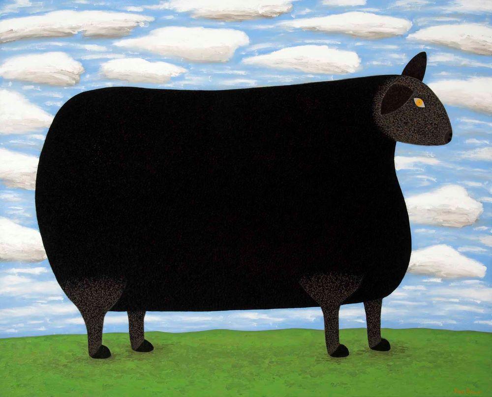 Dean Bowen, Black Sheep 2018 Oil on Linen 122 X 153 cm $16,500