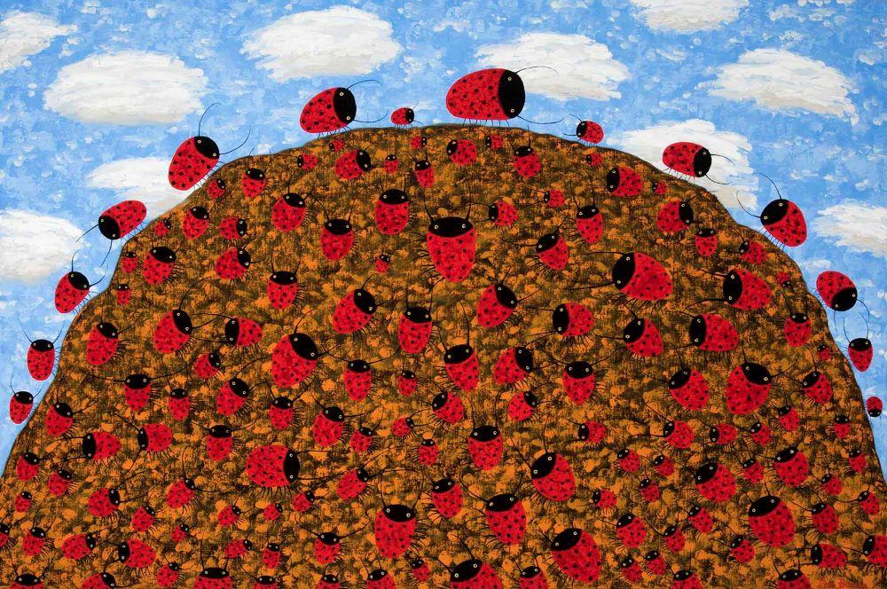 Dean Bowen, Ladybird Hill, 2019 Oil on Linen 122 X 183 cm $18,000