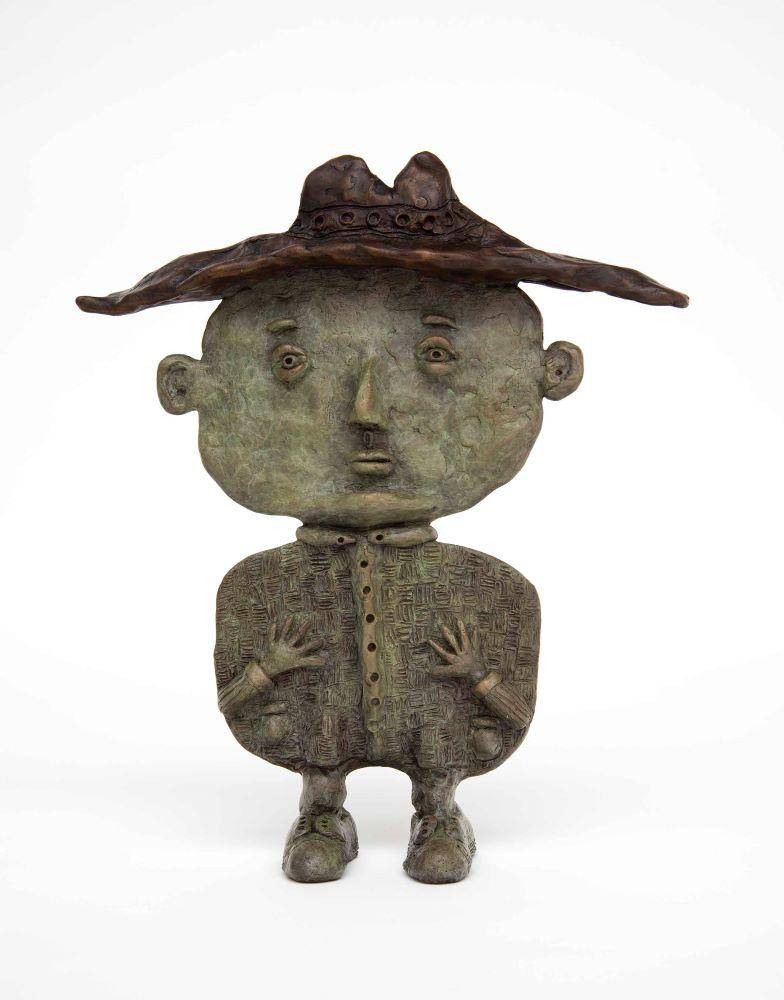 Deran Bowen, The Little Man (2nd State) 2020 Bronze 31.5 X 27 X 7 cm Edition 9, $8800