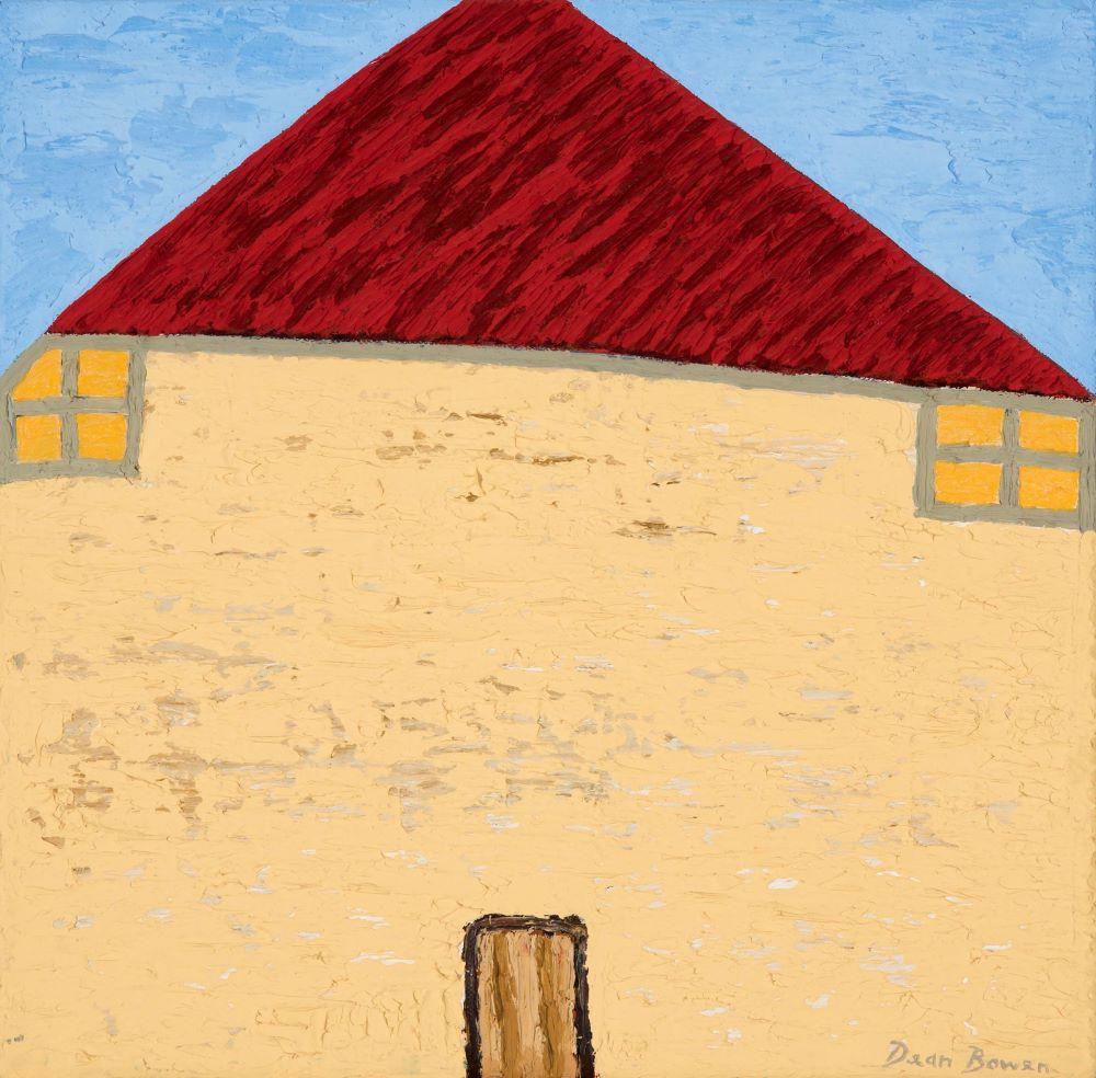 Dean Bowen, Yellow House 2019 Oil on Linen 35.5 X 35.5 $4000