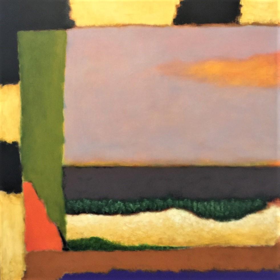Ian Parry, Window 2, 2018, oil on linen, 107 x 107cm $12,500