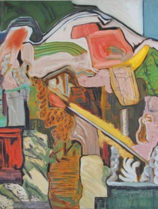 Petra Kleinherne, Hortus, 2018, oil on linen, 92 x 102cm $3500