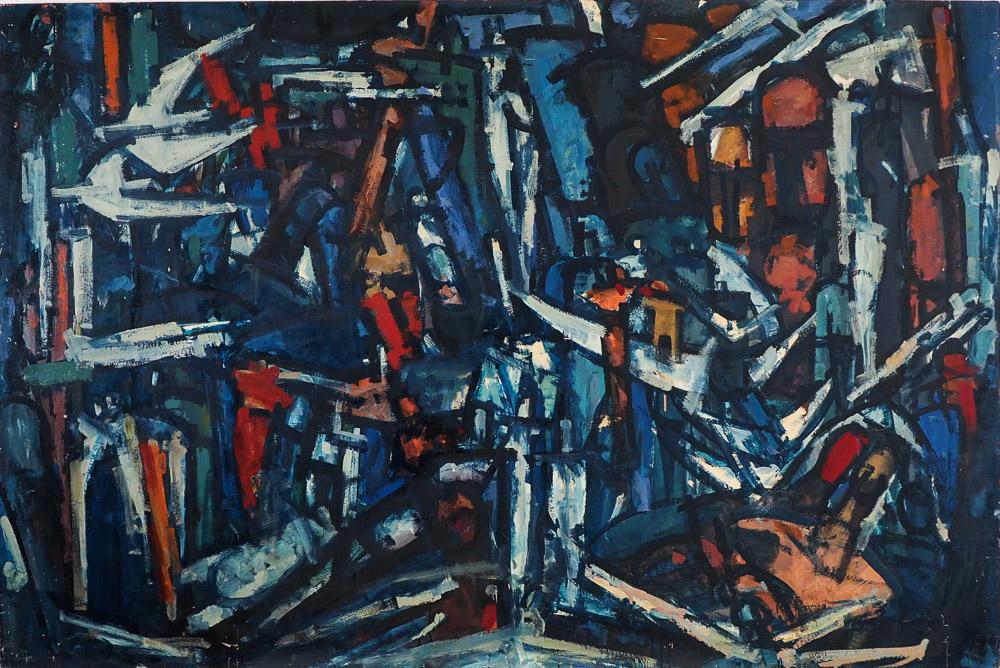 Roger Kemp, Southern Cross, 1964-65, MO13, enamel opn board, 122 x 183cm $80,000