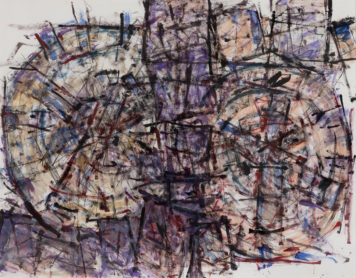 Roger Kemp, Untitled, c 1984, mixed media on paper, 151 x 184cm $45,000