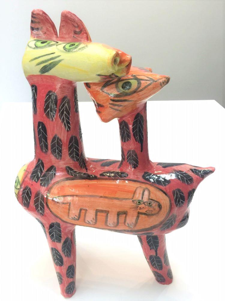 Deborah Halpern, Family, 2017, ceramic, earthenware, 60 x 42 x 20cm $6500 (front)