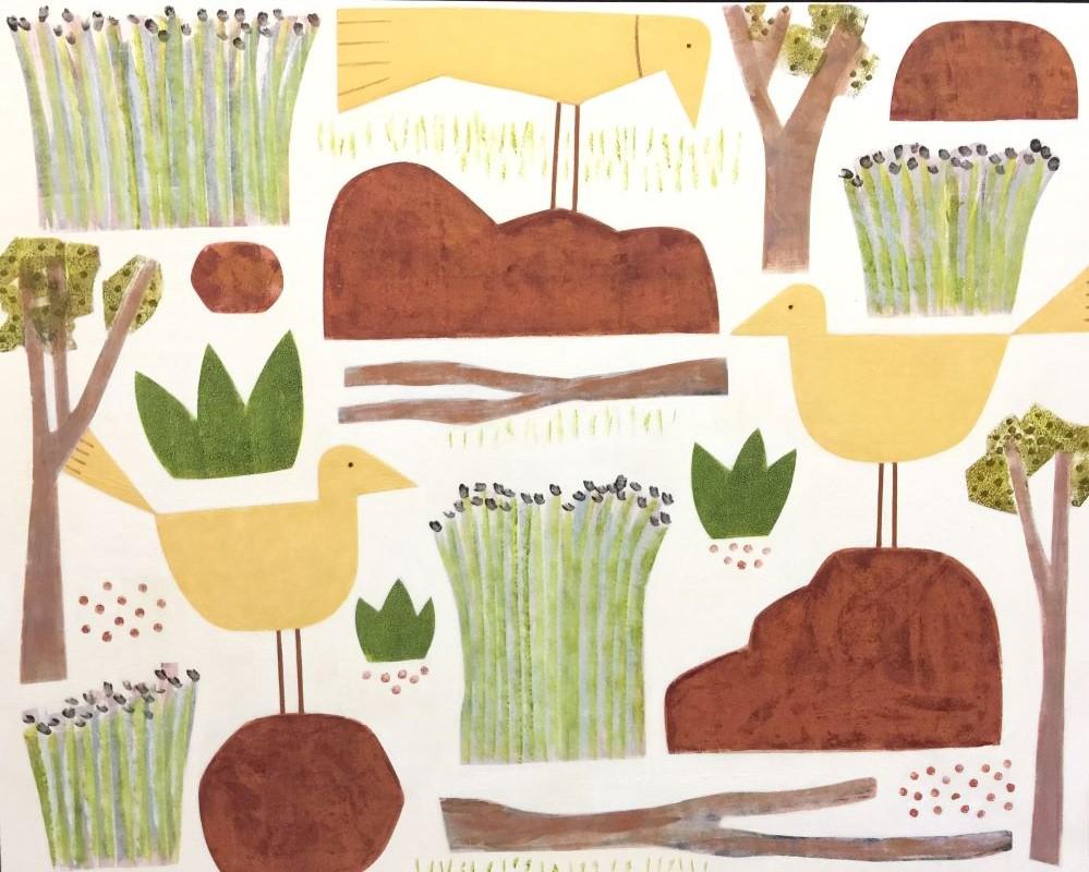 Jill Noble, Farm, oil on linen, 122 x 152 cm $9000