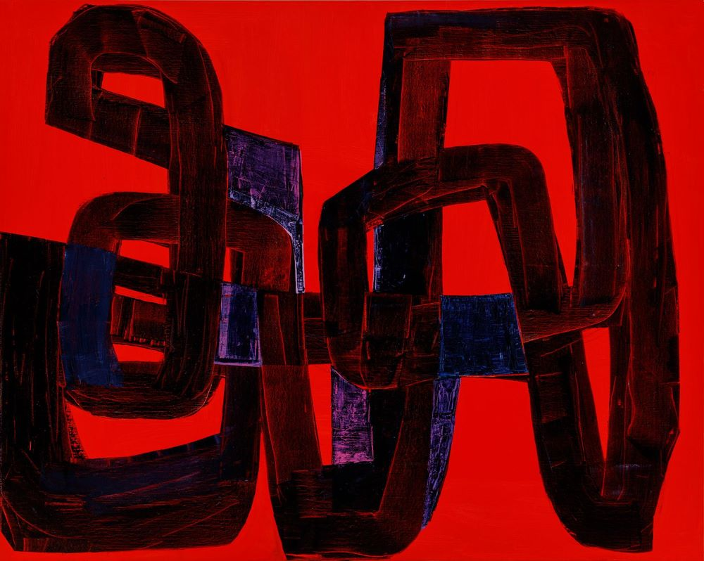 Kate Elsey, Seismic Tranquillity, 2020, oil on linen, 120 x 150 cm SOLD