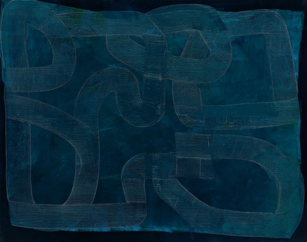 Kate Elsey, Lunar Mare, 2020, oil on linen, 120 x 150 cm $12,500