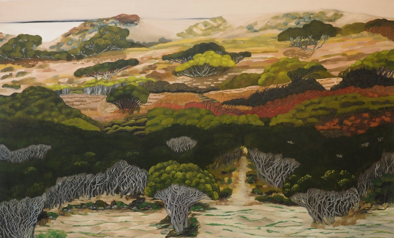 Anne Howie, Somewhere Familiar, 2012, oil on linen, 122 x 200cm $8800