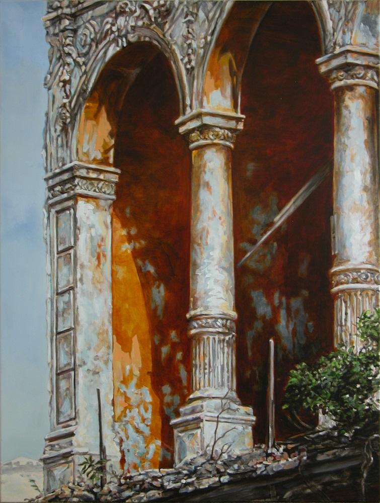 Catherine Van der Meer, Persistence of Wrath #2, oil on canvas, 122 x 92cm $6000